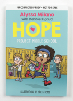 """Alyssa Milano Signed """"Hope: Project Middle School"""" Book (Beckett COA) at PristineAuction.com"""