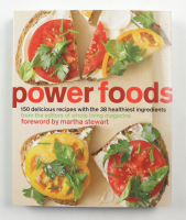 """Martha Stewart Signed """"Power Foods"""" Book Inscribed """"To Kyle Enjoy"""" (Beckett COA) (See Description) at PristineAuction.com"""