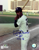 """Elliott Maddox Signed Yankees 8x10 Photo Inscribed """"1974-76"""" (AIV COA) at PristineAuction.com"""