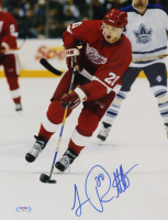 Luc Robitaille Signed Red Wings 11x14 Photo (PSA COA) at PristineAuction.com