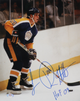 """Luc Robitaille Signed Kings 11x14 Photo Inscribed """"HOF 09"""" (PSA COA) at PristineAuction.com"""