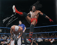 """Booker T Signed WWE 16x20 Photo Inscribed """"5x"""" (PSA COA) at PristineAuction.com"""