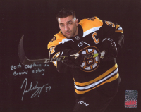 """Patrice Bergeron Signed Bruins 8x10 Photo Inscribed """"20th Captain in Bruins History"""" (Your Sports Memorabilia Store COA & Bergeron Hologram) (See Description) at PristineAuction.com"""