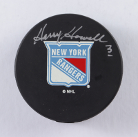 Harry Howell Signed Rangers Logo Hockey Puck (Beckett COA) at PristineAuction.com