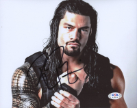 Roman Reigns Signed WWE 8x10 Photo (PSA Hologram) at PristineAuction.com