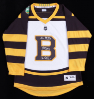 Brad Marchand, Patrice Bergeron & David Pastrnak Signed Bruins 2019 Winter Classic Jersey (The Perfection Line COA) at PristineAuction.com