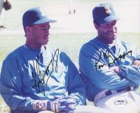 Ken Griffey Jr. & Ken Griffey Sr. Signed Mariners 8x10 Photo (PSA Hologram) at PristineAuction.com