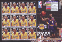 2004 Full Uncut Sheet of (12) Kobe Bryant Lakers Postage Stamps at PristineAuction.com