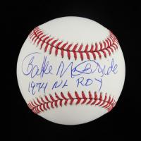 "Bake McBride Signed OML Baseball Inscribed ""1974 NL ROY"" (Schwartz Sports COA) at PristineAuction.com"
