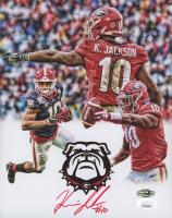 Kearis Jackson Signed Georgia Bulldogs 8x10 Photo (JSA COA & Jackson Hologram) at PristineAuction.com