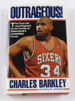 """Charles Barkley Signed """"Outrageous! : The Fine Life and Flagrant Good Times of Basketball's Irresistable Force"""" Hardcover Book (JSA COA) at PristineAuction.com"""