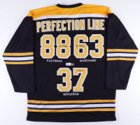 Brad Marchand, Patrice Bergeron & David Pastrnak Signed Jersey (The Perfection Line COA) at PristineAuction.com