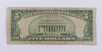 1953 $5 Five-Dollar Blue Seal Silver Certificate Note at PristineAuction.com