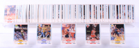 1990-91 Fleer Complete Set of (198) Basketball Cards with Michael Jordan #26, Tim Hardaway #63, Shawn Kemp #178 at PristineAuction.com