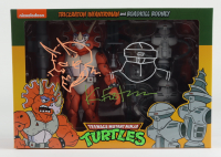 """Kevin Eastman Signed """"Teenage Mutant Ninja Turtles"""" Triceraton Infantryman & Rodkill Rodney Action Figures Box With Hand-Drawn Sketches (Beckett COA) at PristineAuction.com"""