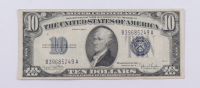 1934-D $10 Ten-Dollar Blue Seal Silver Certificate Note at PristineAuction.com