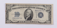1934-C $10 Ten-Dollar Blue Seal Silver Certificate Note at PristineAuction.com