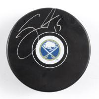 Jack Eichel Signed Sabres Logo Hockey Puck (Eichel COA & YSMS Hologram) at PristineAuction.com