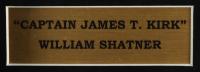 "William Shatner Signed ""Star Trek"" 14.5x23.5 Custom Framed Shadowbox Display with Vintage Star Trek Prop Replica Communicator (JSA COA) (See Description) at PristineAuction.com"