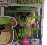 "Jeff Bergman Signed ""Yogi Bear"" #187 Yogi Bear Funko Pop! Vinyl Figure Inscribed ""Hey the it's Yogi Bear"" (PSA COA) at PristineAuction.com"