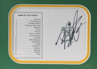Hideki Matsuyama Signed Masters Scorecard 12x15 Custom Framed Display (JSA COA) at PristineAuction.com