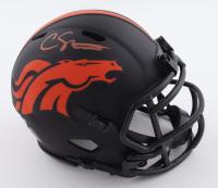 Courtland Sutton Signed Broncos Eclipse Alternate Speed Mini Helmet (Beckett Hologram) at PristineAuction.com