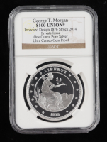 2014 George T. Morgan 1 oz Silver $100 Union Coin (NGC Ultra Cameo Gem Proof) at PristineAuction.com