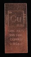 """One Kilo """"Periodic Table"""" .999 Fine Copper Bullion Bar at PristineAuction.com"""