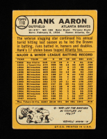 Hank Aaron 1968 Topps #110 at PristineAuction.com