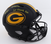 """Eric Stokes Signed Packers Full-Size Eclipse Alternate Speed Helmet Inscribed """"1st Round Pick"""" & """"#GoPackGo"""" (Beckett COA) at PristineAuction.com"""