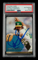 Dennis Eckersley Signed 1994 Ultra #407 (PSA Encapsulated) at PristineAuction.com
