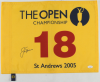 Jack Nicklaus Signed St. Andrews 2005 The Open Championship Golf Pin Flag (JSA LOA) at PristineAuction.com