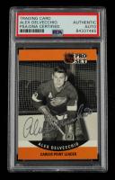 Alex Delvecchio Signed 1990-91 Pro Set #652 CPL (PSA Encapsulated) at PristineAuction.com