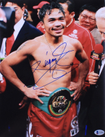 Manny Pacquiao Signed 11x14 Photo (Beckett COA) at PristineAuction.com