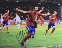 David Villa Signed Team Spain 11x14 Photo (Beckett COA) at PristineAuction.com