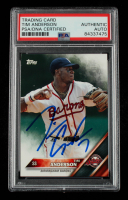 Tim Anderson Signed 2016 Topps Pro Debut #35 (PSA Encapsulated) at PristineAuction.com