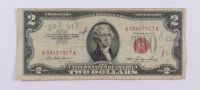1953 $2 Two Dollar U.S. National Currency Red Seal Bank Note at PristineAuction.com