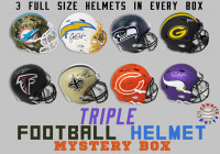 Schwartz Sports TRIPLE Full Size Football Helmet Signed Mystery Box – Series 5 (Limited to 100) at PristineAuction.com