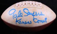 "Gale Sayers Signed Bears Logo Mini Football Inscribed ""Kansas Comet"" (Beckett COA) (See Description) at PristineAuction.com"