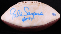 """Gale Sayers Signed Bears Logo Football Inscribed """"HOF 77"""" (Beckett COA) (See Description) at PristineAuction.com"""