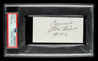 Connie Hawkins Signed 2x4 Cut (PSA Encapsulated) at PristineAuction.com