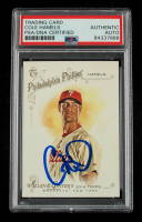 Cole Hamels Signed 2014 Topps Allen and Ginter #105 (PSA Encapsulated) at PristineAuction.com