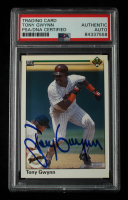 Tony Gwynn Signed 1990 Upper Deck #344 (PSA Encapsulated) at PristineAuction.com