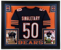 "Mike Singletary Signed 35x43 Custom Framed Jersey Display Inscribed ""HOF 98"" (Beckett Hologram) at PristineAuction.com"