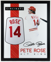 Pete Rose Signed 35x43 Custom Framed Jersey (Fiterman Sports Hologram) (See Description) at PristineAuction.com