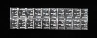 Uncut Sheet of (20) 1 Gram Silver Valcambi Mint Bullion Bars at PristineAuction.com