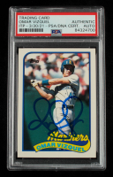 Omar Vizquel Signed 1989 Topps Traded #122T RC (PSA Encapsulated) at PristineAuction.com