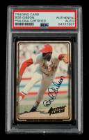 Bob Gibson Signed 1992 Action Packed ASG #3 (PSA Encapsulated) at PristineAuction.com