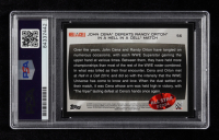 John Cena Signed 2015 Topps WWE Road to WrestleMania #56 Defeats Randy Orton in a Hell in a Cell Match (PSA Encapsulated) at PristineAuction.com