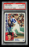 Wade Boggs Signed 1984 Nestle 792 #30 (PSA Encapsulated) at PristineAuction.com
